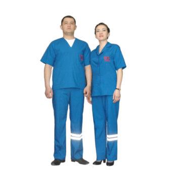 Костюм медицинский летний для работников скорой медицинской помощи женский модель 0411