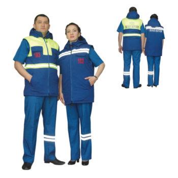 Жилет утепленный для работников скорой медицинской помощи весна-осень мужской модель 0413